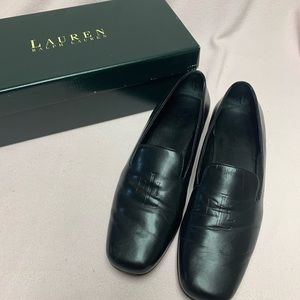 Lauren Ralph Lauren Leather Monogram Loafers